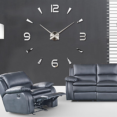 cheap Wall Clocks-Super Big DIY Wall Clock AcrylicEVRMetal Mirror Super Big Personalized Digital Watches Clocks