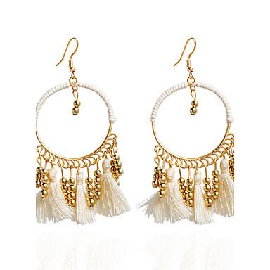 สำหรับผู้หญิง Drop Earrings ต่างหูแบบห่วง ต่างหู เครื่องประดับ สายรุ้ง / ขาว / แดง สำหรับ งานแต่งงาน ปาร์ตี้ ที่มา 1pc