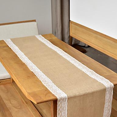preiswerte Tischdekoration-Jüte Tabelle Zentrum Stück - Nicht-individualisiert Tischläufer Blume 1 Winter Frühling Sommer Herbst Ganzjährig