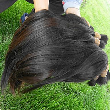 povoljno Ekstenzije za kosu-Virgin kosa Bulk kose / tkati kose / Remy umeci od ljudske kose Za crnkinje Ravan kroj / Klasika Brazilska kosa 0.5kg Više od jedne godine Profesionalac