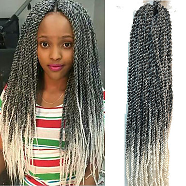 Ombre Senegalese Twist Crochet Braid Hair Synthetic Two