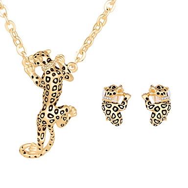 levne Dámské šperky-Dámské Sady šperků Sada kroužků Zvíře dámy Náušnice Šperky Zlatá / Stříbrná Pro Svatební Párty Denní Ležérní / Náhrdelníky