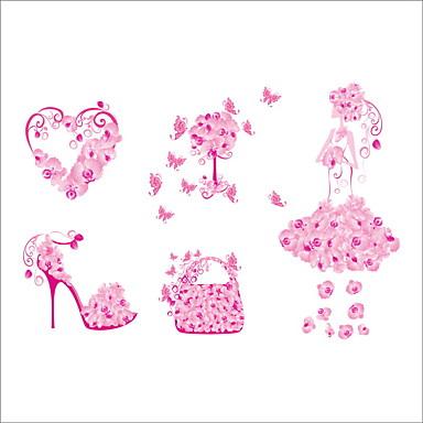 สติ๊กเกอร์ประดับผนัง - Plane Wall Stickers สัตว์ต่างๆ / ลวดลายดอกไม้ / Botanical ห้องนั่งเล่น / ห้องนอน / ห้องของเด็กผู้หญิง