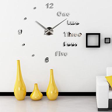 สมัยใหม่/ร่วมสมัย สำนักงาน/ธุรกิจ ครอบครัว โรงเรียน/การสำเร็จการศึกษา เพื่อน นาฬิกาแขวน,แปลกใหม่ อคริลิค 110*110 ในที่ร่ม นาฬิกา
