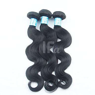povoljno Ekstenzije od ljudske kose-3 paketa Malezijska kosa Tijelo Wave Klasika Ljudska kosa Ljudske kose plete Isprepliće ljudske kose Proširenja ljudske kose / 8A