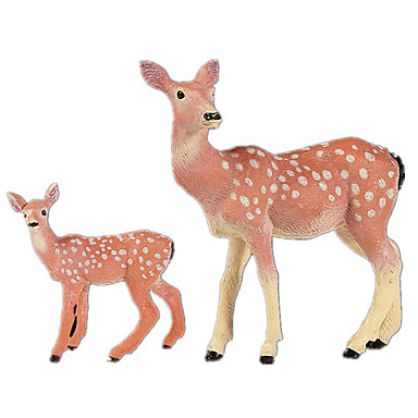 Elk กวาง จอแสดงผลรุ่น สัตว์ต่างๆ การจำลอง คลาสสิกและถาวร เก๋ไก๋และทันสมัย โพลีคาร์บอเนต พลาสติก เด็กผู้หญิง Toy ของขวัญ 1 pcs