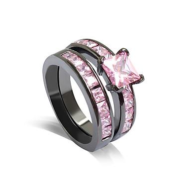 สำหรับผู้หญิง แหวน ชมพุกุหลาบ พลอยเทียม โลหะผสม Stylish งานแต่งงาน ปาร์ตี้ เครื่องประดับ / ทุกวัน