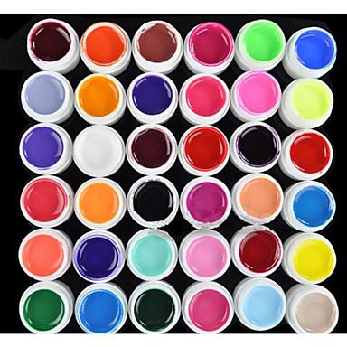 preiswerte Nagellack & Gel Lacke-Nagellack UV Gel 8 ml 36 pcs UV-Farbgel / UV-Builder Gel / Klassisch Langlebige Aufsaugeigenschaften Alltag UV-Farbgel / UV-Builder Gel / Klassisch Schnelles Trocknung