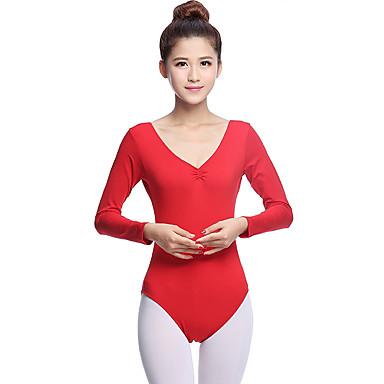 Mehetünk balett dressz nők képzési pamut rakott hosszú ujjú v nyakú  természetes tornadressz 5574574 2019 –  29.99 18346f0917