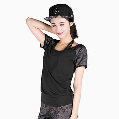 2cbc0902f [$17.50] Women's Crew Neck Running Shirt Sports Camo / Camouflage Modal Tee  / T-shirt Top Yoga Fitness Gym Workout Short Sleeve Activewear Breathable  ...