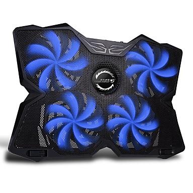 FN-30 สีฟ้าแบบพกพานำแล็ปท็อปที่มีประสิทธิภาพการระบายความร้อนแสงจ้าแผ่นเย็นสำหรับแล็ปท็อป MacBooks 15-17 นิ้ว