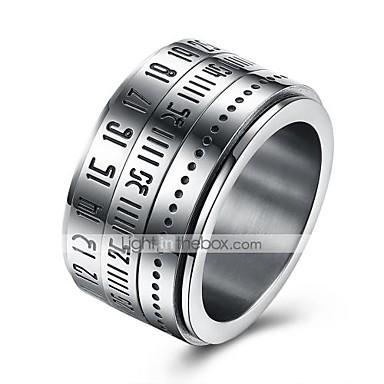 levne Pánské šperky-Pánské Band Ring Prsten kroužek na nehty Boxer Stříbrná Nerez Kulatý Přizpůsobeno Módní Denní Ležérní Šperky