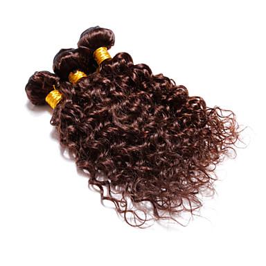 povoljno Ekstenzije od ljudske kose-4 paketića Brazilska kosa Wavy Ljudska kosa Ljudske kose plete Isprepliće ljudske kose Proširenja ljudske kose / 8A