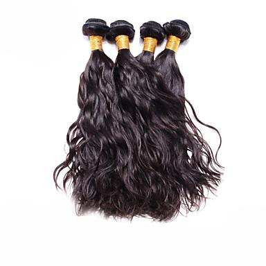 povoljno Ekstenzije od ljudske kose-4 paketića Brazilska kosa Prirodne kovrče Virgin kosa Ljudske kose plete Isprepliće ljudske kose Proširenja ljudske kose / 10A
