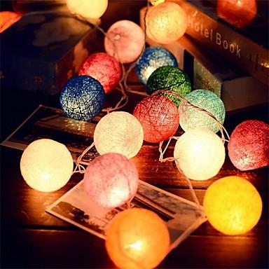 preiswerte LED-Lichter-2.5m 20leds Feenball String Rattan Lichter Hochzeitsdekoration Partei heißen Verwendung bunten Lichtergartendekoration