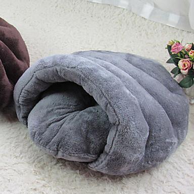 แมว สุนัข เบาะที่นอน ที่นอน ผ้าห่มเตียง Cuddle Cave Bed Plush สัตว์เลี้ยง หมอนอิง & หมอน สีพื้น สองด้าน ที่สามารถพับได้ นวด สีเทา กาแฟ