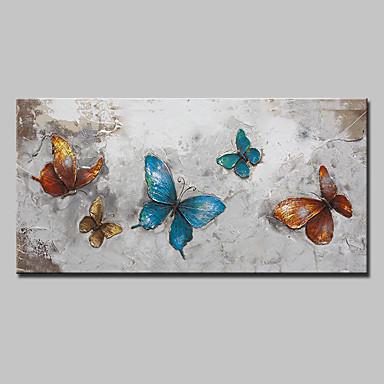 ภาพวาดสีน้ำมันแขวนทาสี มือวาด - งานศิลปะป๊อป ที่ทันสมัย รูปแบบสไตล์ยุโรป รวมถึงด้านในกรอบ / ผ้าใบยืด