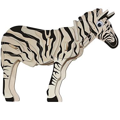 voordelige 3D-puzzels-Houten puzzels Paard Zebra professioneel niveau Hout 1 pcs Jongens Meisjes Speeltjes Geschenk