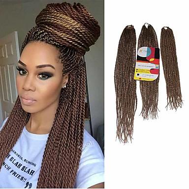 povoljno Ekstenzije za kosu-Kosa koja se plete Senegal Twist pletenice Ekstenzije od ljudske kose 100% kanekalon kose Kanekalon 81 korijena Sušilo za pletenice Dnevno