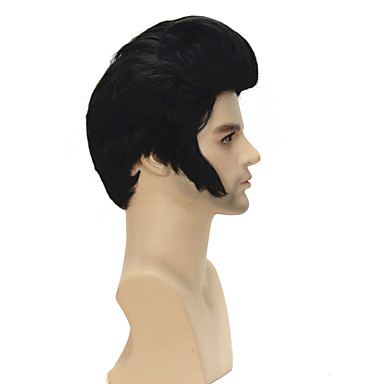 Synthetic Wig Straight Black Women's Capless Celebrity Wig Cosplay Wig Short Synthetic Hair