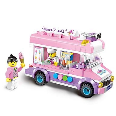 ENLIGHTEN รถของเล่น Building Blocks ของเล่นชุดก่อสร้าง 213 pcs รถยนต์ ไอศครีม ที่เข้ากันได้ Legoing Creative น่ารัก สง่า&หรูหรา ชุดกระโปรงแบบGlamorous & Dramatic Cartoon เด็กผู้ชาย เด็กผู้หญิง Toy