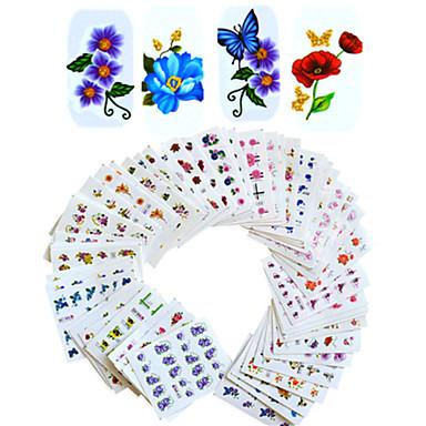 povoljno Rasprodaja-1set 55pcs Naljepnice i trake / Naljepnica za prijenos vode Cvijet / Nail Decals / Nail Art DIY alat dodatak Naljepnice