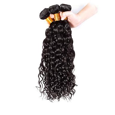 povoljno Ekstenzije od ljudske kose-3 paketa Brazilska kosa Kovrčav Klasika Ljudska kosa Ljudske kose plete Isprepliće ljudske kose Proširenja ljudske kose / 8A