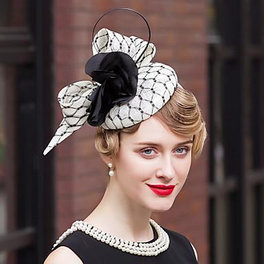 povoljno Party pokrivala za glavu-laneno pero baršunaste mrežaste čarape kape glave elegantnog stila