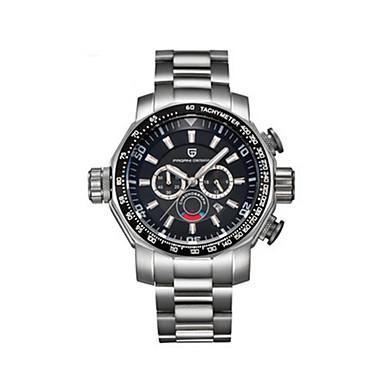 levne Pánské-Pánské Sportovní hodinky Křemenný Nerez Černá / Bílá / Zlatá 30 m / Analog - Digitál Vintage - Bílá Černá Žlutá