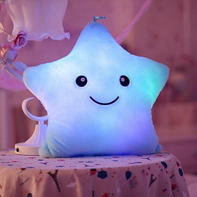 Star LED Lighting Stuffed & Plush Animals น่ารัก LED Lighting Creative ชุดกระโปรงแบบGlamorous & Dramatic Cartoon หวาน เสื้อผ้า ฝ้าย เด็กผู้หญิง Toy ของขวัญ