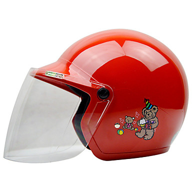 billige Motorsykkel & ATV tilbehør-REUS Halvhjelm Barn Unisex Motorsykkel hjelm Anti-dugg / Pustende