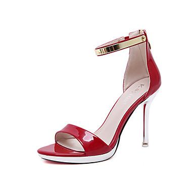 Mujer Zapatos Tela Primavera Confort Sandalias Heterotypic Heel Negro / Rojo Acheter Pas Cher Expédition Faible 0V7rg