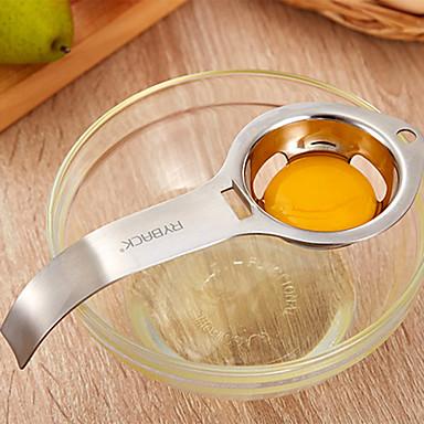 สแตนเลสแยกไข่ขาวไข่แดงกรองไข่ d ivider ครัว g adget เครื่องมือ