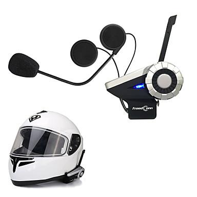 billige Motorsykkel & ATV tilbehør-freedconn 1pcs t-rex full duplex 1500m 8-veis motorsykkel gruppe snakk system bt Interphone FM-radio trådløs bluetooth hjelm intercom