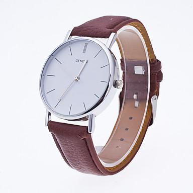 levne Dámské-Geneva Dámské Sportovní hodinky Náramkové hodinky Křemenný Pravá kůže Vícebarevný Žhavá sleva Analogové dámy Přívěšky Na běžné nošení Módní Minimalistické - Bílá Černá Kávová Dva roky Životnost