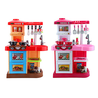 [$49.99] beiens Toy Kitchen Set Kids\' Cooking Appliance Pretend Play LED  Lighting Sound ABS Kid\'s Boys\' Girls\' Toy Gift 35 pcs