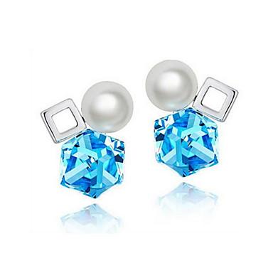 3d96cfbd0798 Pendientes colgantes Cristal Perla Cristal Forma Cuadrada Forma Geométrica  Azul Oscuro Morado Joyas Para Diario Casual 1 par 5635248 2019 –  26.99