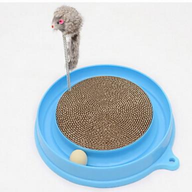Cat Ball Tracks ซึ่งมีการสื่อสารระหว่างกัน เมาส์ Scratching Board แมว สัตว์เลี้ยง Toy Scratch Pad Sisal ของขวัญ