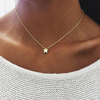levne Dámské šperky-Dámské Náhrdelníky s přívěšky Plavání Yıldız Lahůdka dámy Jednoduchý Jedinečný design Slitina Zlatá Stříbrná Náhrdelníky Šperky Pro Narozeniny Zásnuby Denní Ležérní