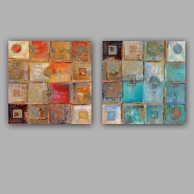 povoljno Ulja na platnu-Hang oslikana uljanim bojama Ručno oslikana - Sažetak Moderna Europska Style Uključi Unutarnji okvir / Prošireni platno