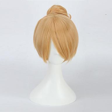 billige Kostymeparykk-Syntetiske parykker Rett Stil Parykk Blond Medium Lengde Blond Syntetisk hår Dame Blond Parykk