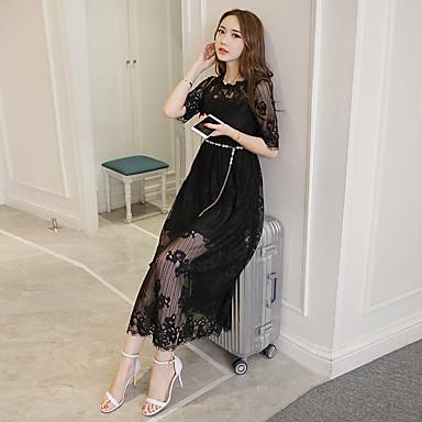c824babbcd95 2017 spring new Women Korean Slim waist long section of white lace dress  summer dress Korea 5646163 2019 –  15.99