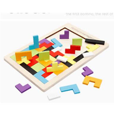 preiswerte Mathematische Spielsachen-Montessori Lernspielzeug Tetris Bausteine Holzpuzzle 1 pcs Neuartige Bildung Jungen Mädchen Spielzeuge Geschenk