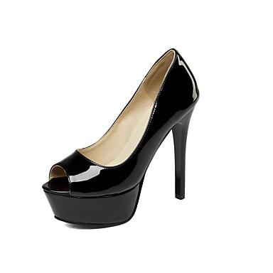 Mujer Zapatos Cuero Patentado Semicuero Sintético Primavera Verano Otoño Innovador Pump Básico Confort Tacones Paseo Tacón Stiletto Ie9iD8