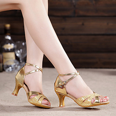 db0dda0c9ad Γυναικεία Παπούτσια χορού λάτιν Λαμπυρίζον Γκλίτερ / Με πούλιες / Συνθετικό  Πέδιλα / Τακούνια Πούλιες / Αστραφτερό Γκλίτερ / Αγκράφα 5604261 2019 –  $14.99