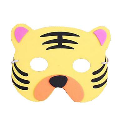 หน้ากากสัตว์ Tiger พลาสติก ผู้ใหญ่ ทุกเพศ Toy ของขวัญ 1 pcs