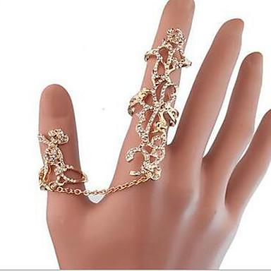 billige Fuskediamant-Dame Ring Syntetisk Diamant Gull Strass Fuskediamant Legering damer Uvanlig Luksus Fest Daglig Smykker Roser Blomst Justerbar