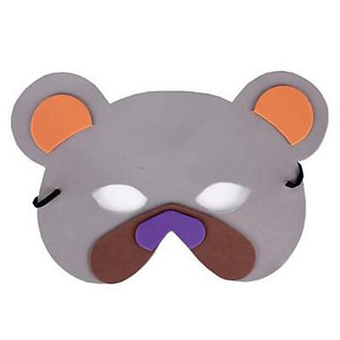 หน้ากากฮาโลวีน หน้ากากสัตว์ Bear ธีมสยองขวัญ พลาสติก Cartoon 1 pcs ผู้ใหญ่ ทุกเพศ Toy ของขวัญ