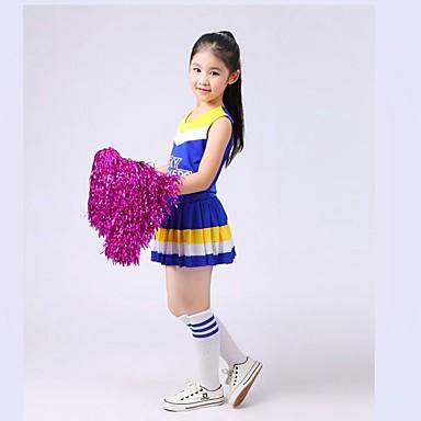 Mazsorett kosztümök Felszerelések Gyermek Teljesítmény Spandex Redőzött 2  darab Ujjatlan Természetes Felső Szoknya 5594539 2018 –  34.99 824fd1eea3