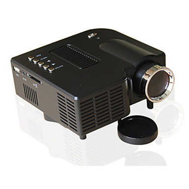 preiswerte Projektoren-uc28 universal 400 lumen hd 400 lumen multimedia led haushaltsprojektor unterstützung 60 zoll großbildprojektion usb / sd / av eingang mini unterhaltungsprojektor uc28 +